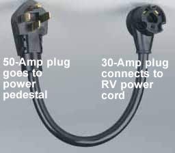 30 Amp Rv Plug >> Using A 50 To 30 Amp Rv Power Adapter Rv Basics Com